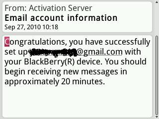 Cara Membuat Akun Email BlackBerry