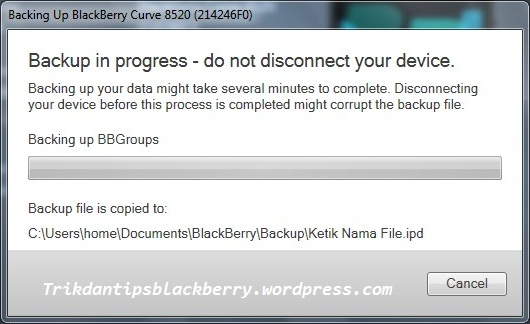 Cara Backup Data BlackBerry dengan Desktop Software