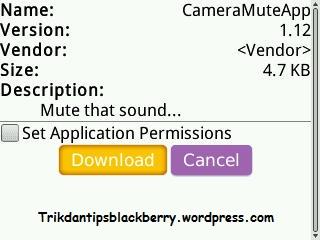 Menghilangkan Suara Kamera BlackBerry Dengan Camera Mute App