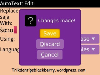 How to Save a Symbol to the BlackBerry AutoText