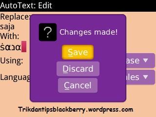 Cara Menyimpan Symbol ke Autotext BlackBerry