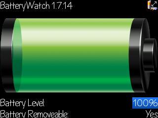 Aplikasi BlackBerry Battery Watch App World